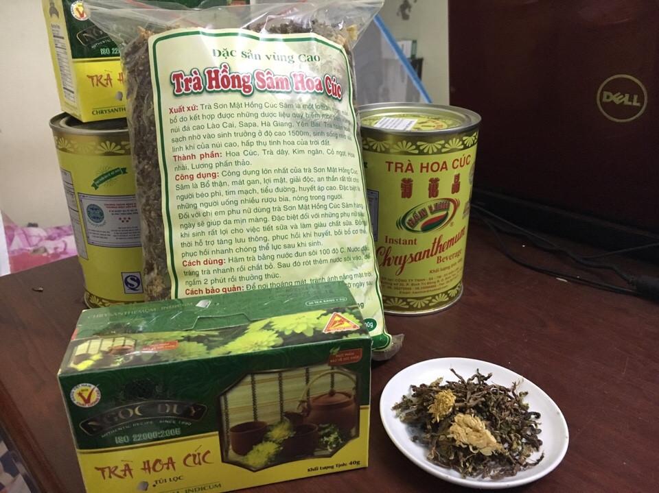 Trà Sơn Mật Hồng Sâm Hoa Cúc.